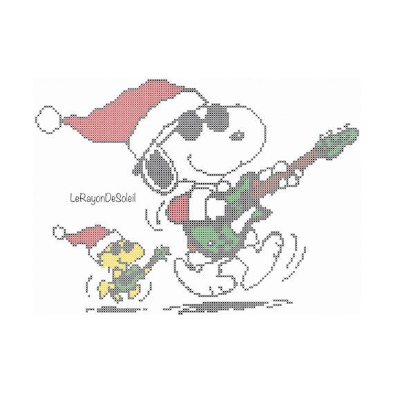 Cross stitch pattern Snoopy Woodstock Rocks Instant download | Etsy