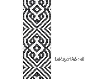 Bead loom pattern - Bracelet Pattern Instant Download - Beaded Cuff Bracelet - Pattern Digital PDF