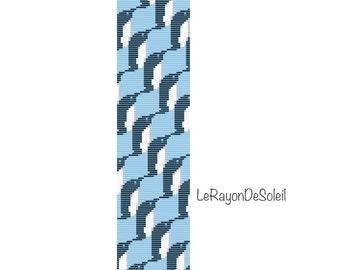 Bead loom pattern - Penguins bracelet Pattern Instant Download - Beaded Cuff Bracelet - Pattern Digital PDF