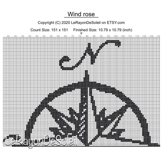 Dancing With The Wind PDF cross stitch pattern  instant download
