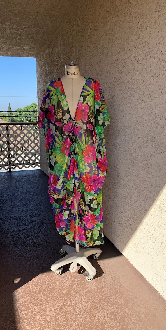 Deadstock Sirena SwimsuitVintage 90s  Cover Up Mes