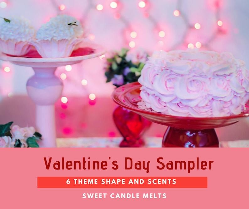 Valentine' Day  Wax  Melt Mini-Shape Sampler  6 Shape image 0