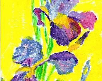 Iris Reproduction Painting 5x7