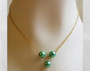 7e27c519a Chic Pearl Chain Necklace Beautiful Floating Pearls Modern Minimal Pearl  Necklace 3 Piece Set