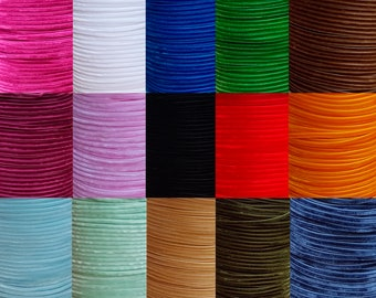 3,3 yards 3mm Free Delivery 60 colours DOUBLE SIDED SATIN RIBBONS 3m 1//8/'/'
