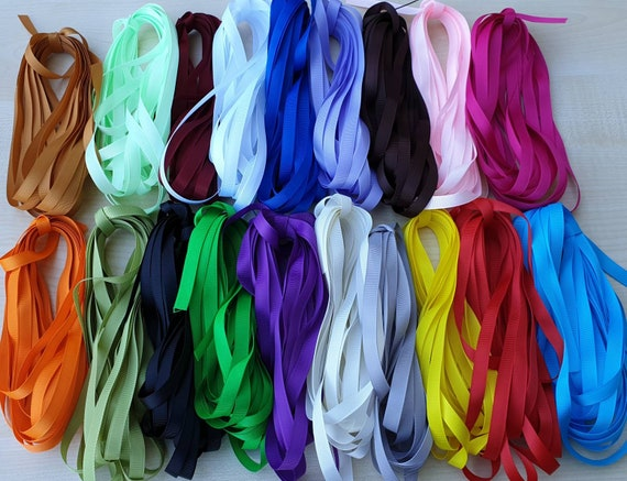 10 Meters of Grosgrain Ribbon 10mm /& 25mm Width Various Colours Mix /& Match