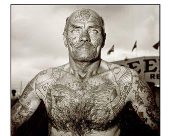 Tattoo Man by Diane Arbus