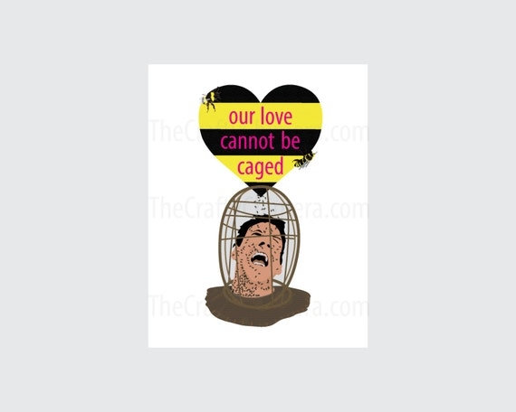 Nicolas Cage The Wicker Man Printable Valentine Card Etsy