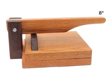 "8"" Hardwood Tortilla Press - Red Oak"