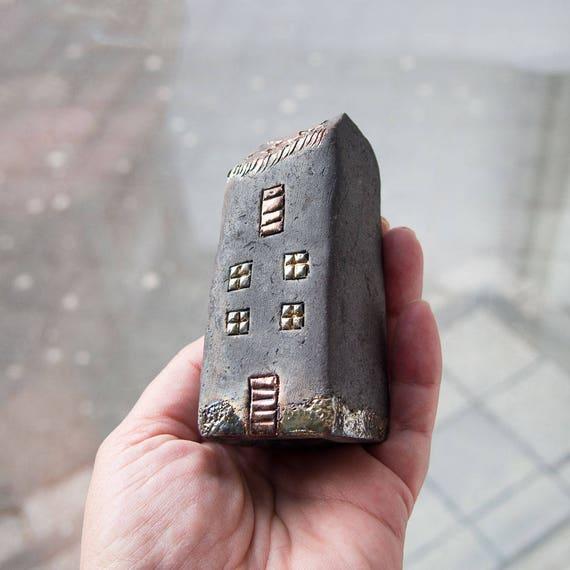 Art Noir Raku Cuite Maisons En Céramique Fait Main Unique Céramique  Architecture Décoration Intérieure, ...