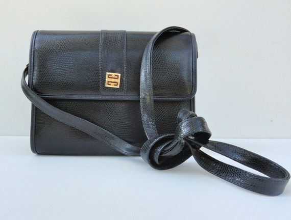Vintage 1980s 1990s Navy Designer Purse Givenchy Paris Bag   Etsy 1536da34de