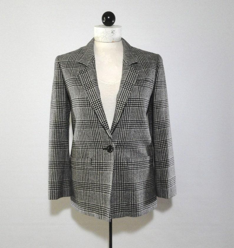 562072486f Vintage 80s Pendleton Black White Single Button Jacket 4