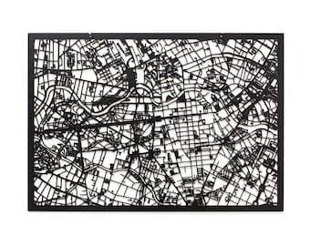 3D Stadtplan BERLIN, 59x42cm (73x53cm)