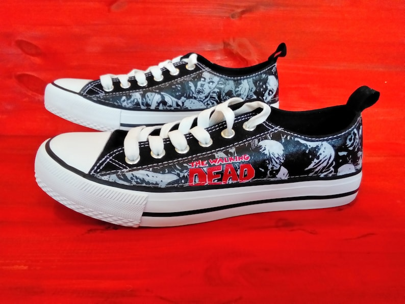 Canvas Shoes Trainers Kids to Adults Hand Customised with image 0