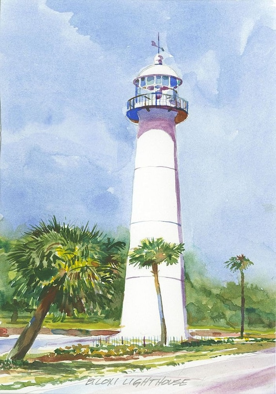 Biloxi Lighthouse Mississippi Gulf Coast Ken Matthew Etsy