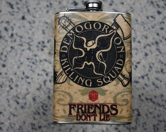 Welcome to Hawkins - 8oz Stainless Steel Flask