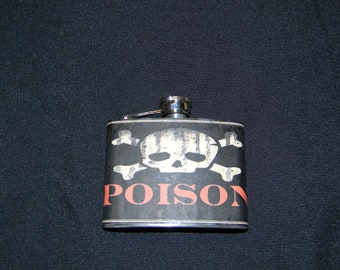 Stainless Steel Flask - 4 oz (Style Set 3 of 6)