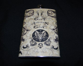 Stainless Steel Flask - 4 oz (Style Set 5 of 6)