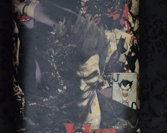 Stainless Steel Comic Book Flask - 8 oz ( The Joker or Harley Quinn)
