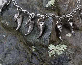 Coyote claw necklace
