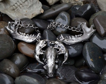 Animal skull necklace