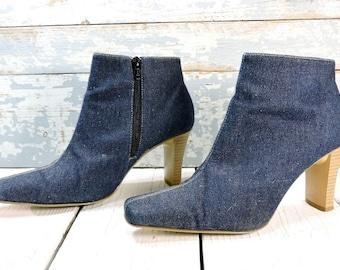 573fcd2fa5121 Women's denim boots | Etsy
