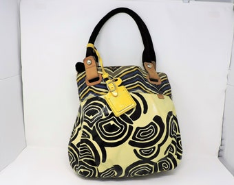 91e205efdbea99 Bohemian Purse: Large ColorfulFossil Key-Per Handbag Shoulder Bag VIntage Womens  Accessory Vegan Purse Large Canvas Fossil Tote Bag