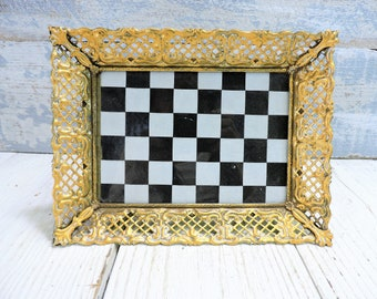 Picture Frames 5X7 Ornate Gold Weaved Metal Painted Wedding Gift Accessory Hand Painted Gold Vintage Photo Frame Wedding Photo Frame