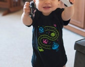 6 Month Baby Bodysuit, Space Shirt, Baby Girl Clothes, Car Play Mat Shirt, Dad and Baby Matching Shirts, Outer Space, Unique Baby Gift