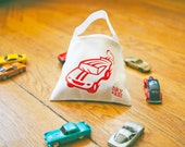 Race Car Tote, Gift for Kids, Matchbox Cars Bag, Car Birthday Gift, Boys Car Tote, Car Party Favor Bag, Father's Day tote for child