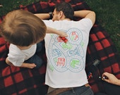 S, Play Mat T-shirt, Car Shirt, Dad Gift from Daughter or Son, New Dad Shirt, Gift From Baby, Tshirt for Men, Road Map Shirt, Roads on Back