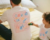 Dad and Baby Matching Shirts, Train Track Shirts, Father Son Matching Shirts, Fathers Day Shirt, Play Mat Shirts, From Son or Daughter