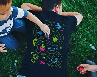 L, Outer Space Shirt, Dad Gift from Baby, Father's Day Shirt for Dad, Play Mat Shirt from Daughter or Son, Alien Shirt, Grandpa Gift