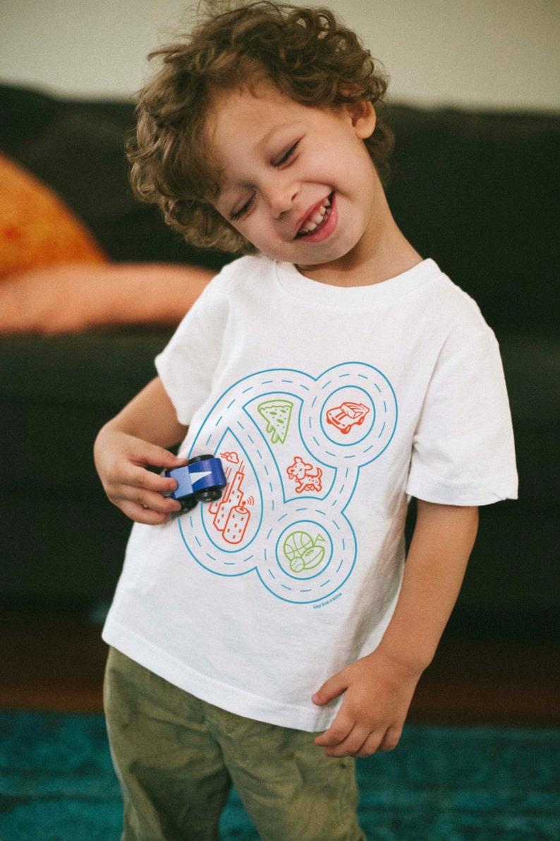 4a83d2300 Youth M Race Car Shirt Play Mat Tshirt Race Track Car | Etsy
