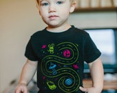 4T, Space Shirt, Car Track Shirt, Father's Day Dad and Son Shirts, Outer Space Birthday, Gifts for Boys, Race Track,  Play Mat Shirt