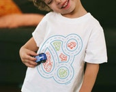 Youth S, Kids Car Shirt, Gift for Autistic Boy, Boys Shirt, Race Car Track Shirt, Play Mat Shirt, Car Party, Car Birthday, Play Therapy