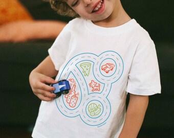 Kids Car Shirt, Youth S, Toddler Toy Cars, Quarantine Boy Shirt, Race Car Track Shirt, Play Mat Shirt, Car Party, Car Birthday, Play Therapy