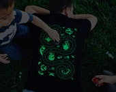 M, Glow in the Dark Space Shirt, Car Tracks Shirt, Dad Gift from Daughter, Outer Space Alien Shirt, New Dad Gift from Kids, For Husband
