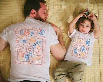 Father Son Matching Shirts, Train Track Shirts, Daddy Son Matching Shirts, Dad and Me Shirts, Train Shirt, Dad Gifts, Toddler Boy Clothes