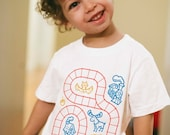 Youth M, Kids Train Shirt, Tween Clothing, Tween Stocking Stuffers, Train Birthday Shirt, Play Therapy, Train Tracks Shirt, Play Mat Shirt