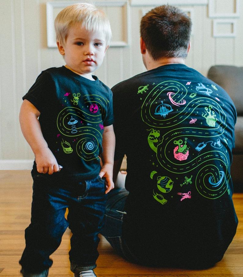 Dad and Baby Matching Shirts Space Shirts Matching Shirts image 0