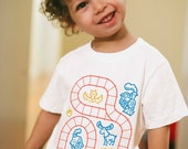 4T, Train Shirt, Train Shirt for Toddler, Boys Train Shirt, Sensory Play Gift, Play Mat Shirt, Train Tracks Birthday Shirt Toddler Girl Gift