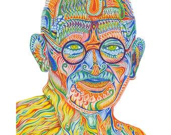 Gandhi - Fine Art Print