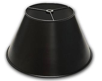 "Lamp Shade - Metal - 12"" Shade - Black finish - Light Shade - Industrial Shade - Heavy Duty - Quality"