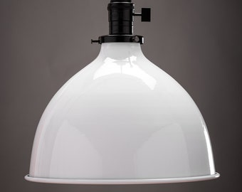 """Pendant Shade - 10"""" - Kitchen Island - Metal Shade - Industrial - Restaurant - Make your own light - Hanging Shade"""