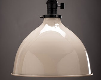 """Pendant Shade - 10"""" - Metal Shade - Kitchen Island Light - Industrial - Restaurant - Make your own light - Hanging Shade"""