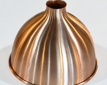 "Copper Shade - Solid Copper - Metal Shade - 15"" Pendant Shade - Kitchen Light - Island Light - Table Light - Restaurant - Industrial"