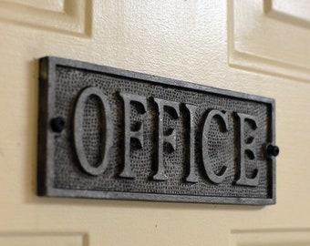 Exit Black Cast Iron Sign Plaque Door Wall House Gate Garden Work Office Shop