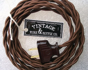 Vintage Wire And Supply Amherst Ohio | Red Cloth Covered Wire 8 Ft Cordset Rewire Vintage Etsy
