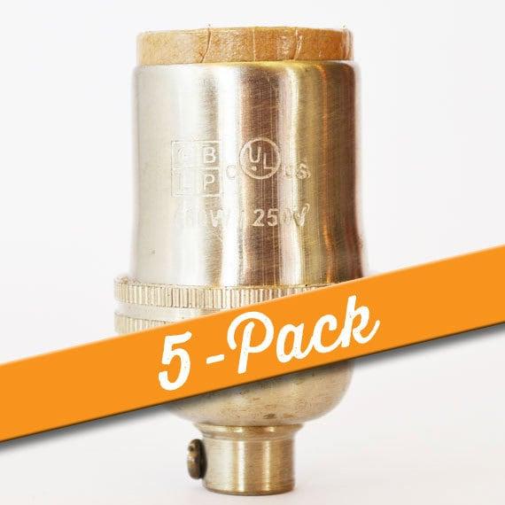 Crown Brass Connector 10 Pieces  C2018S-010 Matte Original Rhodium Plated